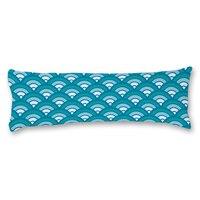 Conchas azules DIY Personalizado Patrón Fundas de Almohada 20*54 pulgadas Del Cuerpo Fundas de Almohada Cubierta de Cama En Casa Decorativa Funda de Almohada regalo