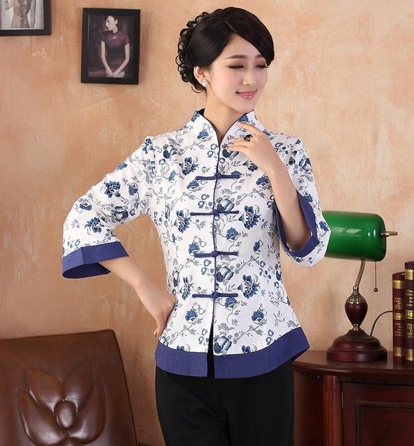 91f92da005c2 € 16.63 49% de DESCUENTO|Shanghai Story nueva llegada mandarín collar  tradicional chino tops ropa Top Qipao blusa China Cheongsam camisa en  Blusas ...