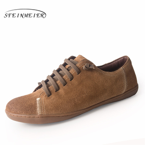 Image 5 - Men flat summer shoes genuine leather barefoot Casual Shoes man Flats ballerinas sneakers Female Footwear spring shoes 2019