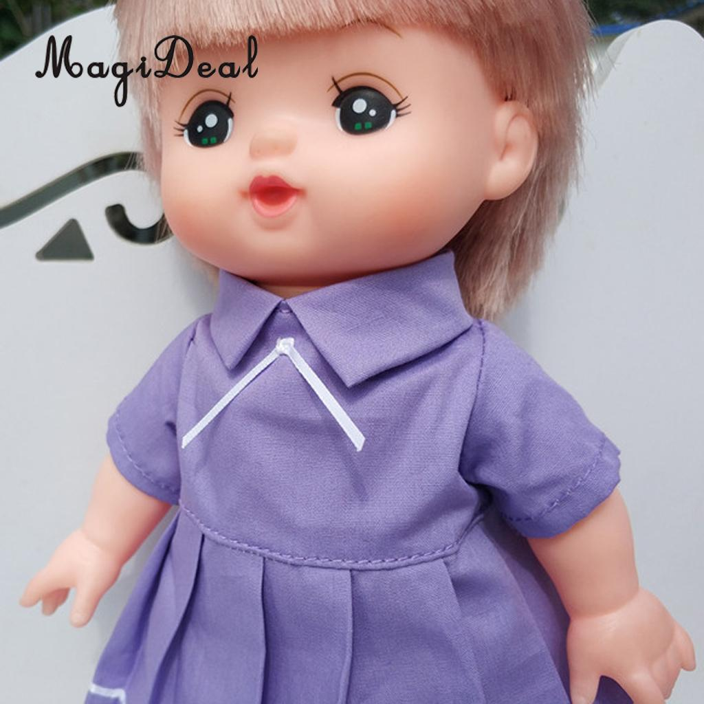 Details about  /School Style Pleated Dress Socks Suit for Mellchan 9-11inch Reborn Girl Baby