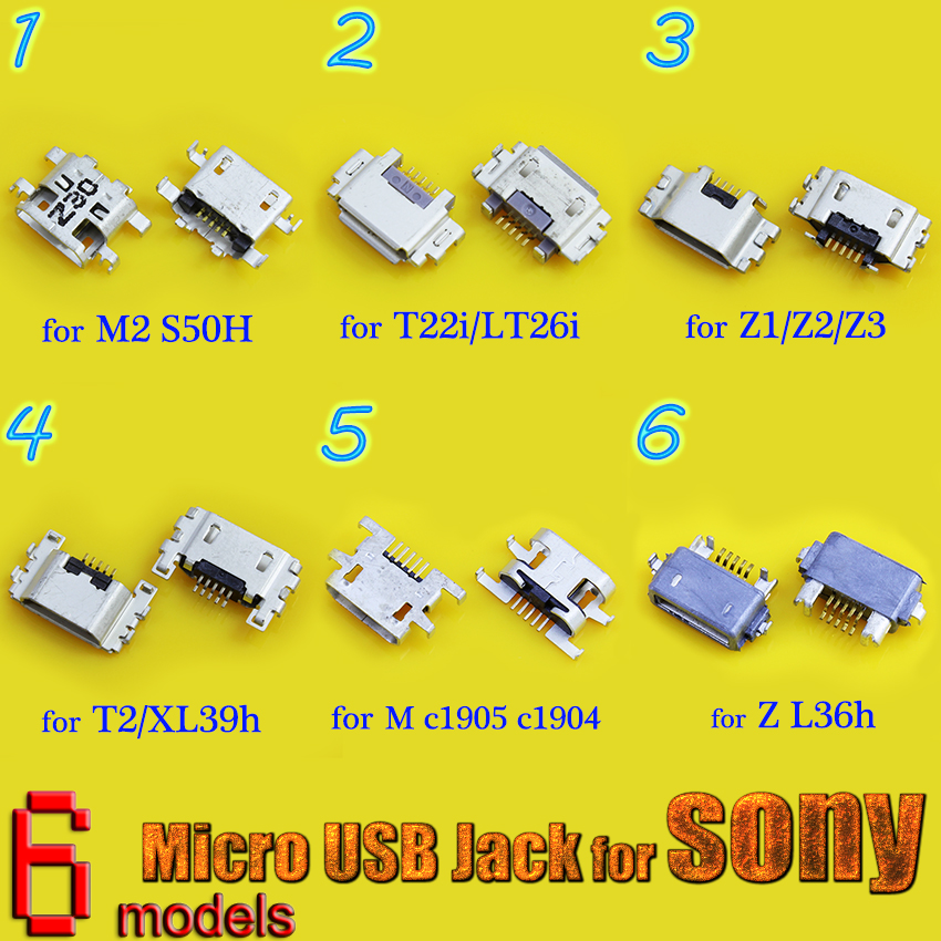 New Micro USB Jack Charging Port For Sony <font><b>Xperia</b></font> Z2 L50W Z1 <font><b>Z3</b></font> <font><b>Compact</b></font> Z Ultra XL39H S Lt26i Power <font><b>Charger</b></font> Connector Socket