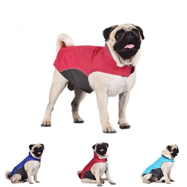 Bajila Large Dog Clothes Waterproof Spring Dog Raincoat Outdoor Jacket Pet Coat for Pugs Husky Bull Dogs Fleece Lining