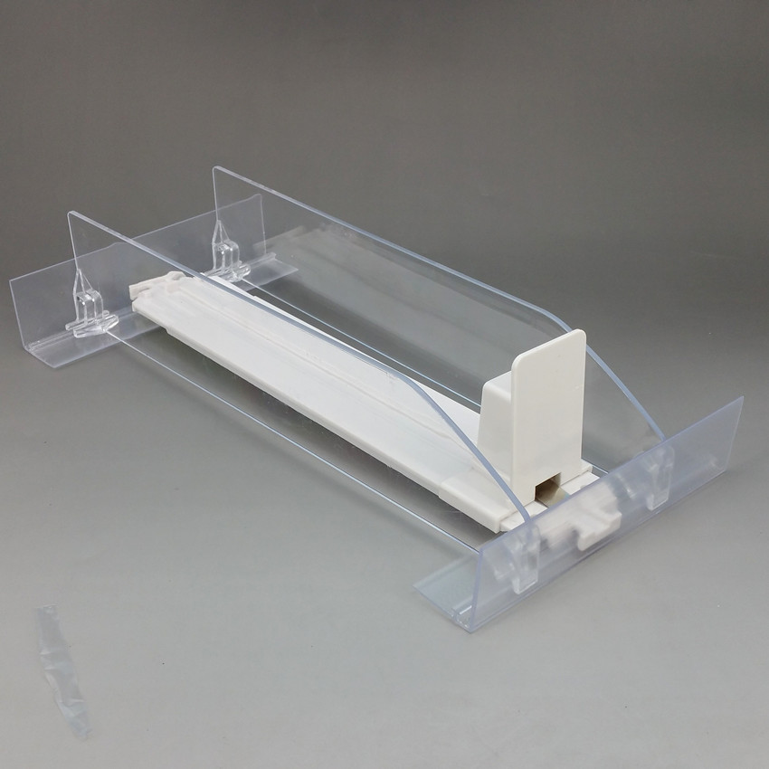 Plastic Shelf Cigarettes Automatic Pushing Divider System for Small Products Package In Supermarket Retail Rack 1PackPlastic Shelf Cigarettes Automatic Pushing Divider System for Small Products Package In Supermarket Retail Rack 1Pack