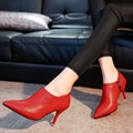 T9005  Fashion Sexy Pointed Toe Thin High Heels Woman Shoes Women's Pumps ankle boots fashion dress shoes for lady women shoes
