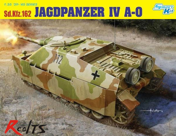 RealTS Dragon Models 1/35 Jagdpanzer IV A-0 Plastic Model Kit 6843 realts dragon 6746 1 35 flak 43 flakpanzer iv ostwind w zimmerit