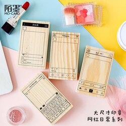 Codzienna seria gumowa uszczelka drewno znaczki do scrapbookingu znaczki dekoracji DIY biurowe wsparcie Kawaii Ins Wechat Bullet Journal