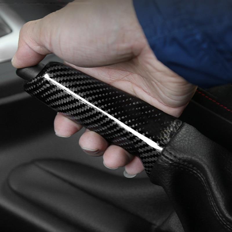 Pour Bmw E46 E90 E92 E60 E39 F30 F34 F10 F20 accessoires universel en Fiber de carbone poignées de frein à main de voiture couvercle garniture intérieure - 4
