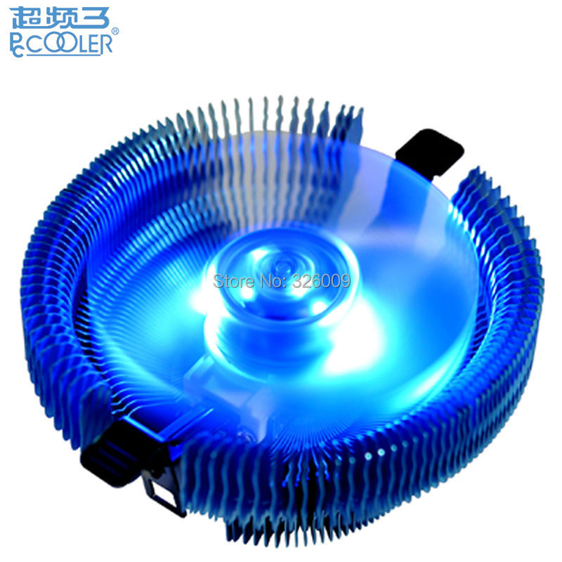 4pin PWM 90mm fan Blue LED, cooling for Intel LGA775 1150 1151 1155 1156, for AMD AM2 AM2+ AM3 FM1, CPU radiator, PcCooler E92F 2 heatpipes blue led cpu cooling fan 4pin 120mm cpu cooler fan radiator aluminum heatsink for lga 1155 1156 1150 775 amd