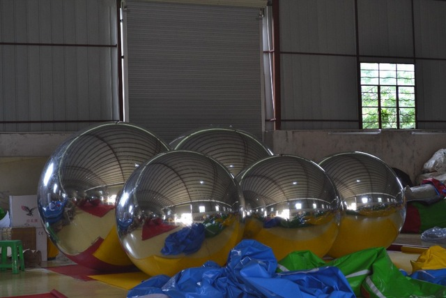 Inflatable Mirror Ball for release meeting