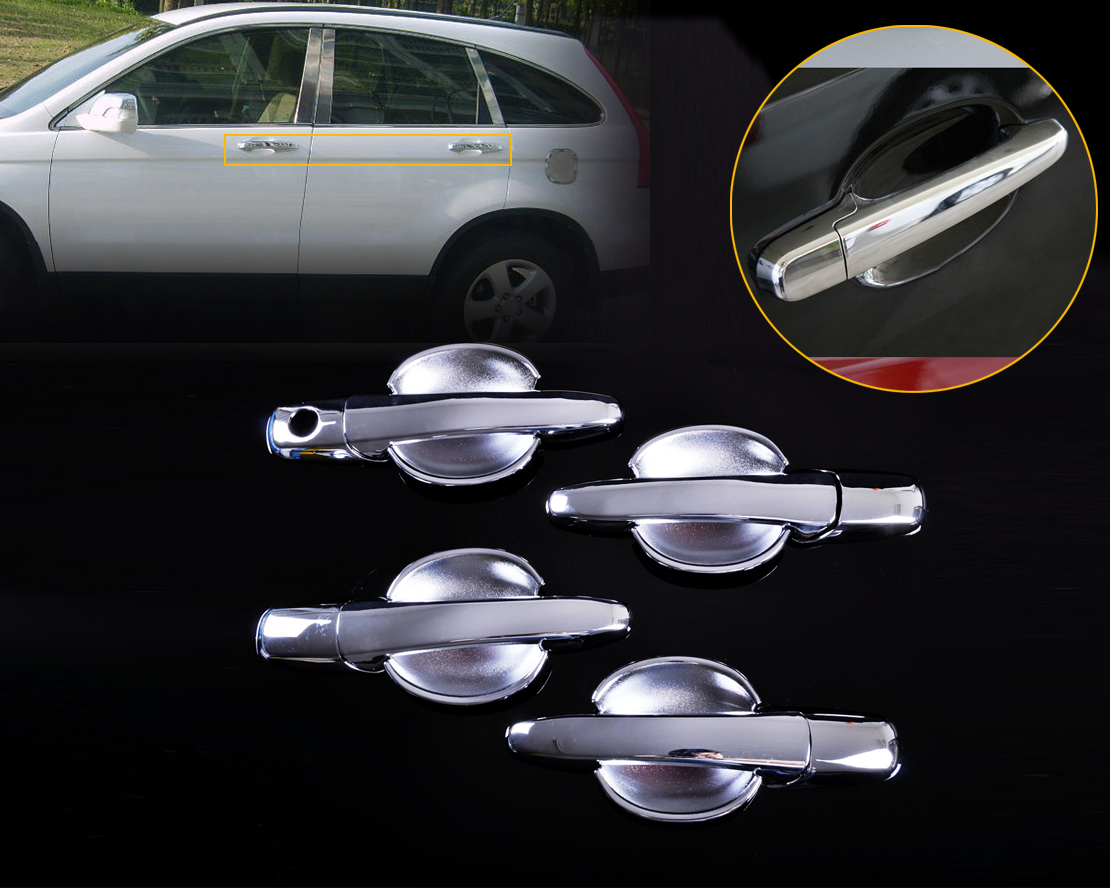 beler Chrome Door Handle Cover + Cup Bowl Combo for <font><b>Mazda</b></font> 6 2003-2005 2006 2007 2008 for <font><b>Mazda</b></font> <font><b>3</b></font> <font><b>2004</b></font> 2005 2006 2007 2008 2009 image