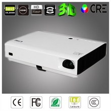 CRE X3001 inteligente DLP 3LED 3d projektor led dvd proyector led 3000 lúmenes dlp de tiro corto proyector wifi android