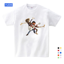 Summer 2019 COCO cartoon movie 100% cotton short sleeve t shirt, Casual sport clothes Tops Tees cotton t-shirts children YUDIE цена и фото