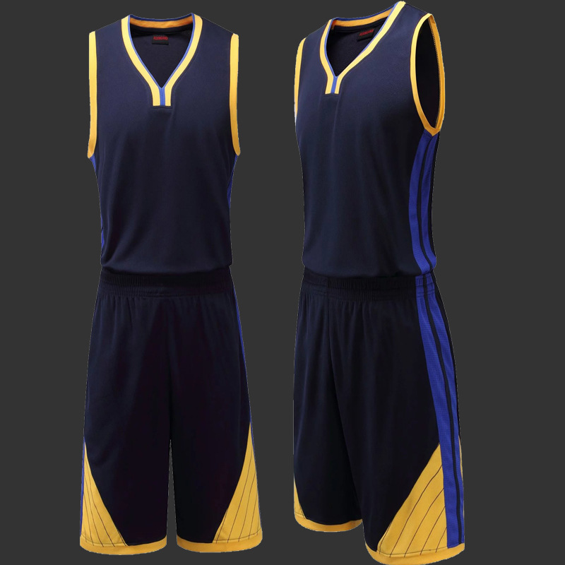 0f36405bb34c Men s Blank Basketball Jersey Game Team Uniform Sportswear Kits Male Training  Shirt Adult Sports Clothing Suit