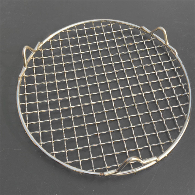 304 stainless steel round grill net with foot barbecue BBQ meshes Cooling Rack steam baking rack Camping Outdoor Mesh Wire Net