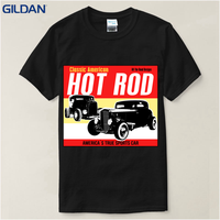 Custom Shirts Online Graphic Crew Neck Hot Rod Garage Race Low Hot Muscle Car Short Sleeve