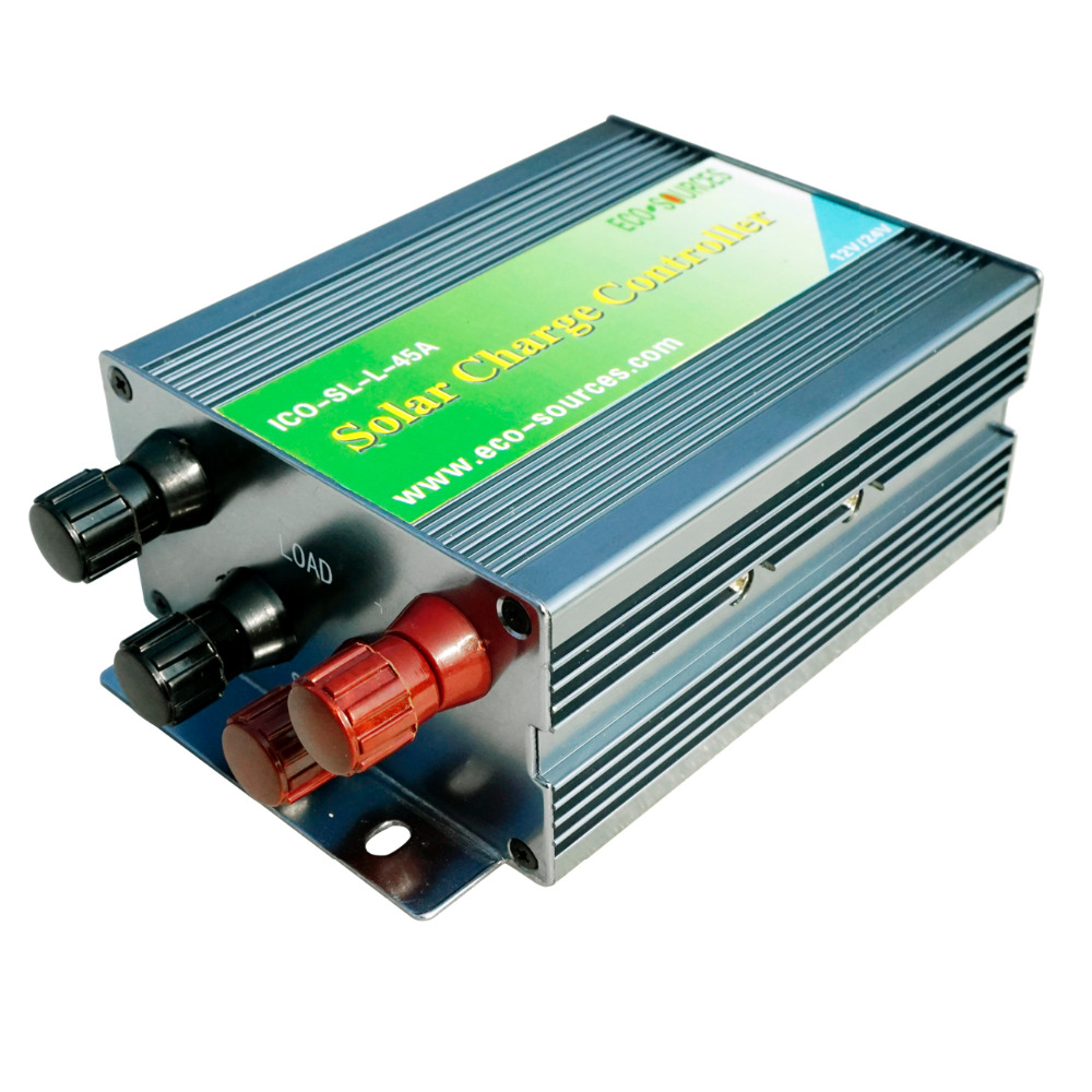 45a Pwm Solar Panel Controller Charge Regulator 12v Controllersolar Generator 220v Portablesolar 24v Battery Charging For 1kw System In Electric Heater Parts From Home Appliances