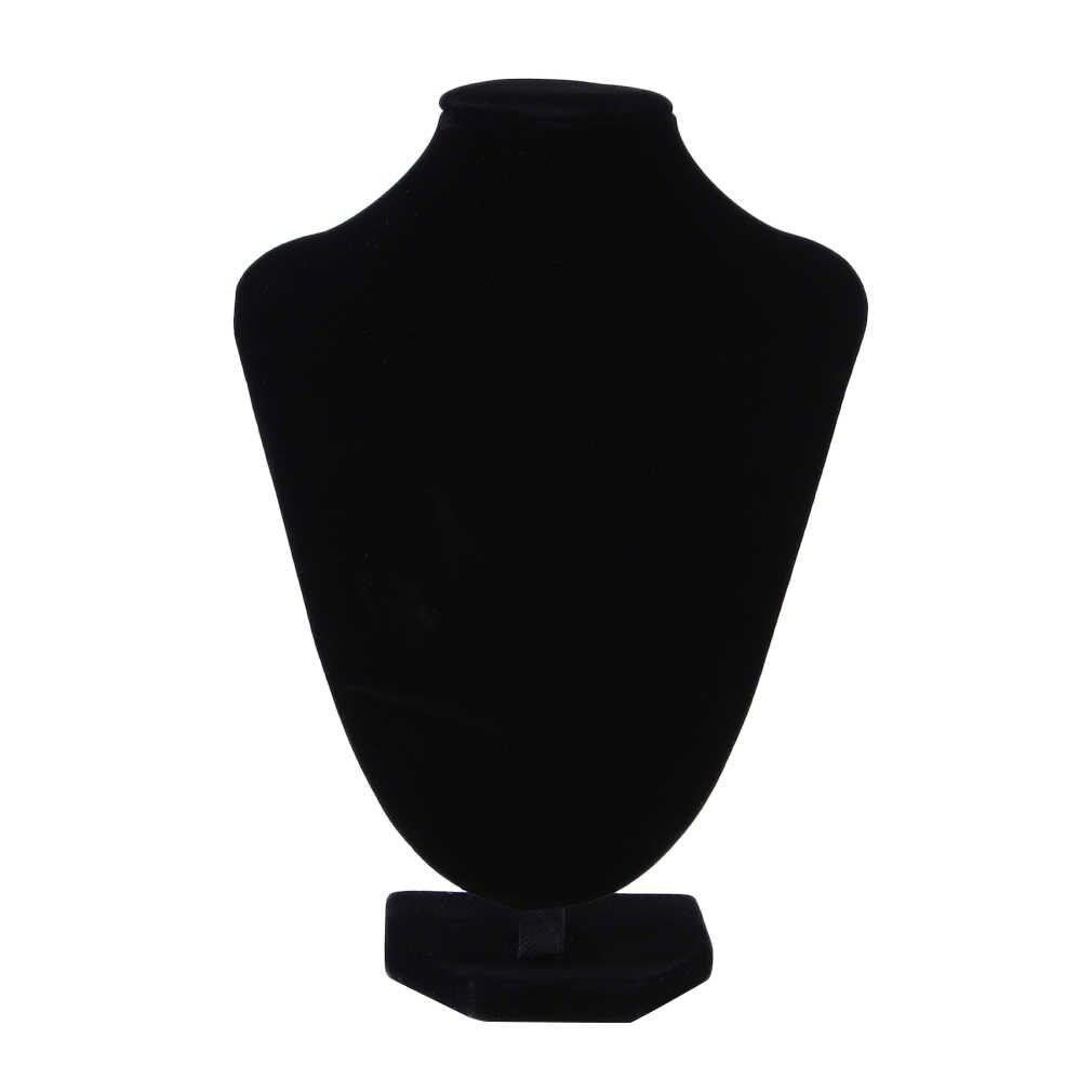 Ювелирные изделия ожерелье стенд бархат дисплей стойка черный бархат цепь держатель Бюст 10*15 см A30 держатель Контейнер Упаковка