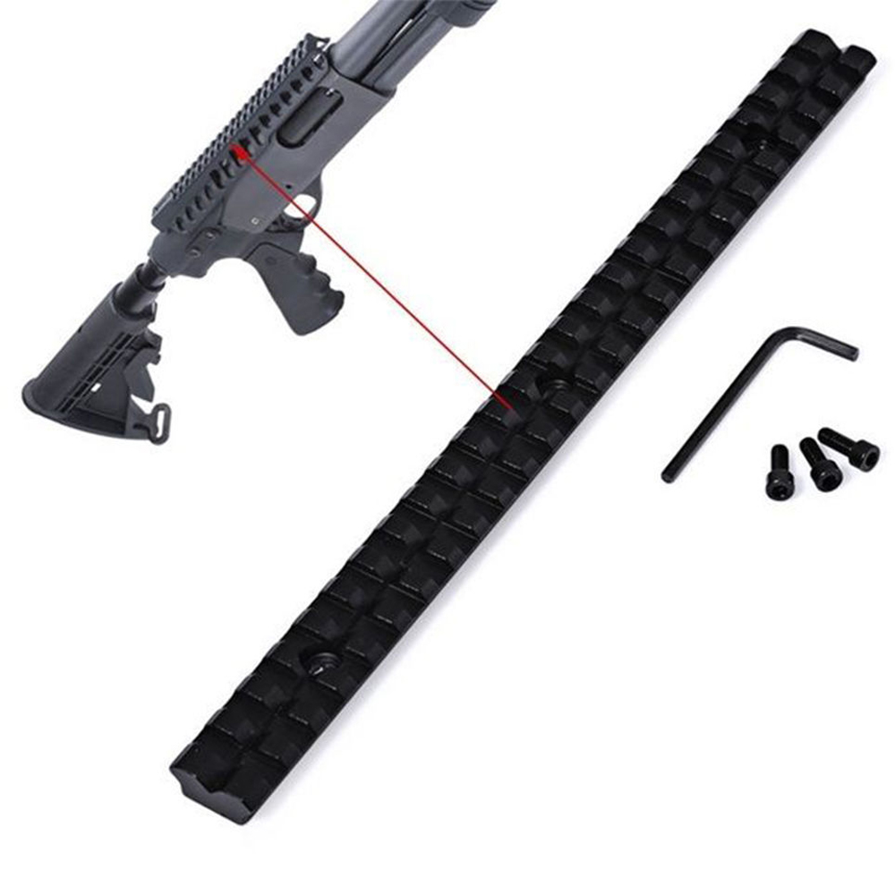 Image 2 - Long 20mm Mount Picatinny Rail with 25 Slots and 257mm Length of Aluminum Alloy for Hunting Rifles B-in Scope Mounts & Accessories from Sports & Entertainment