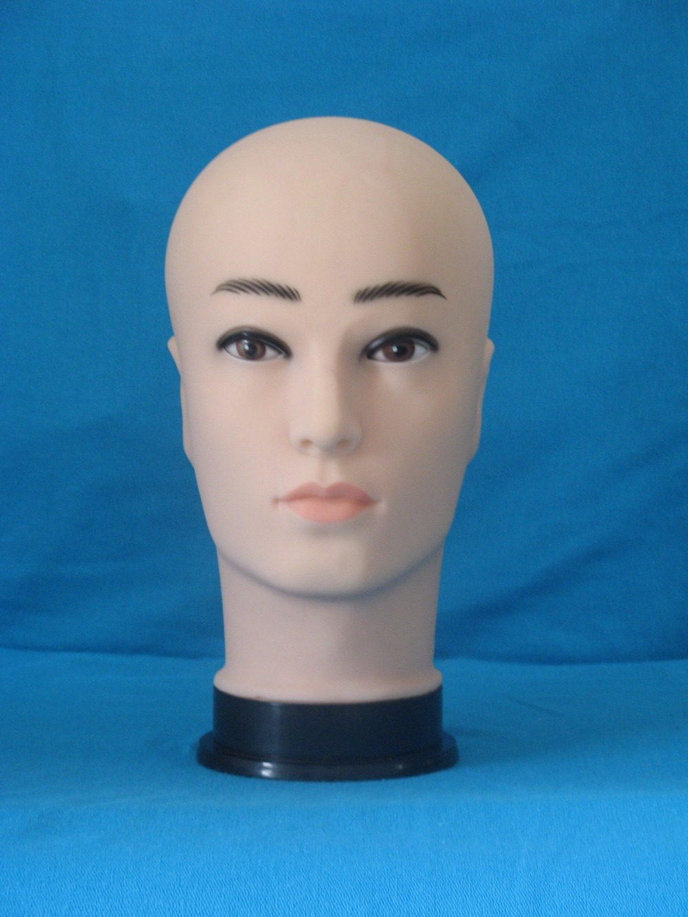 Realistic Plastic Male Mannequin Dummy Head, Manikin Heads For Hat