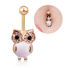 14G Fresh Summer Style Owl Body Helix Piercing Rings Surigcal Steel Navel Accessory Xuping-Jewelry Bikini Beach Accessorys(China)