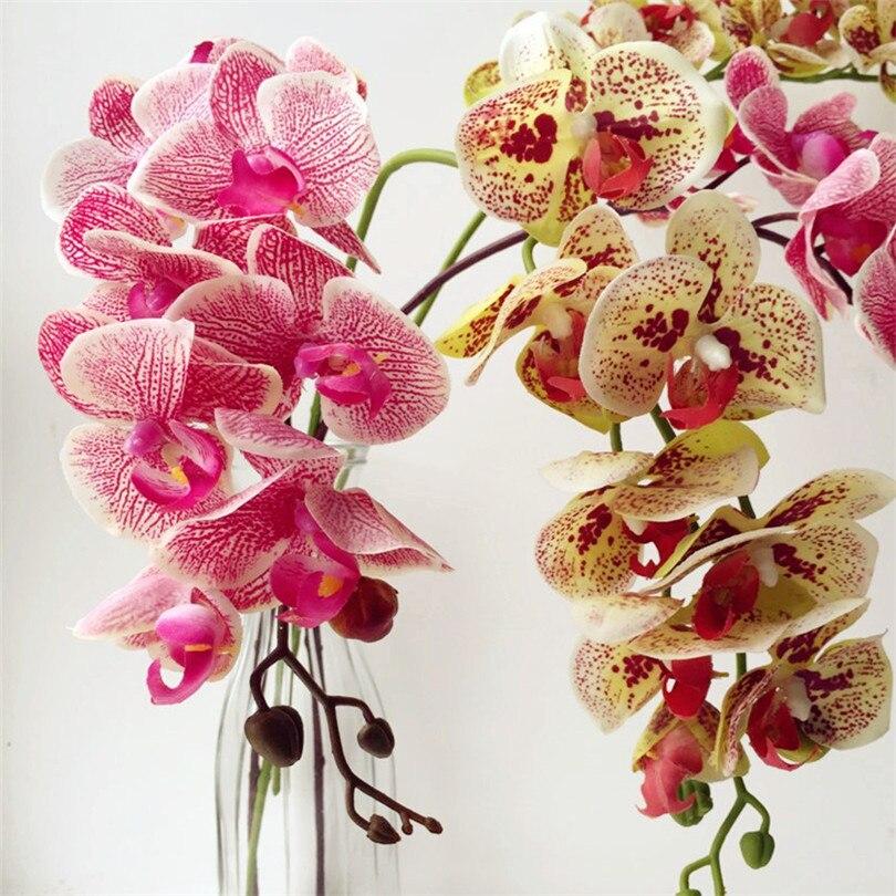 6p tegelik puudutus orhideed liblikas Phalaenopsis valge / fukseesia - Pühad ja peod - Foto 2