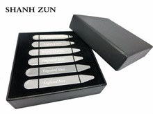 SHANH ZUN Personalized Dress Shirt Collar Stays with Secret Messages for the one you love