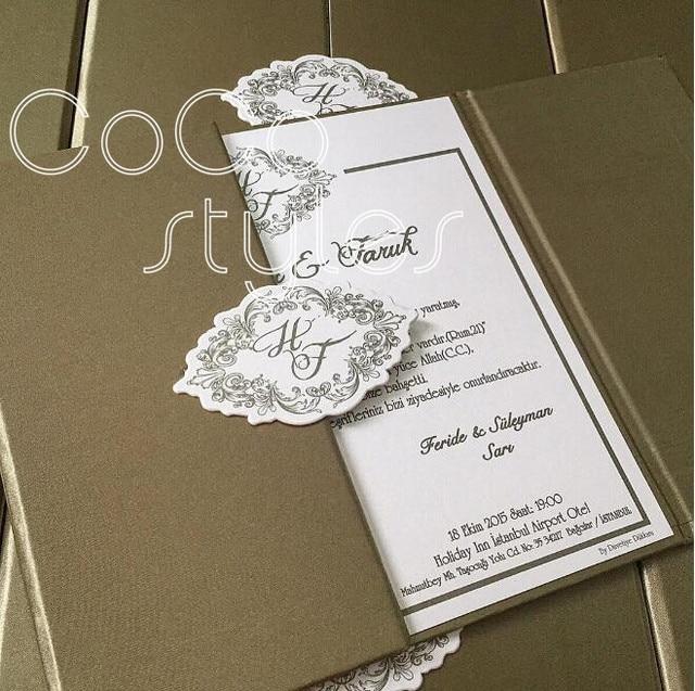 Cocostyles handmade customized paper hard cover wedding invitation ...