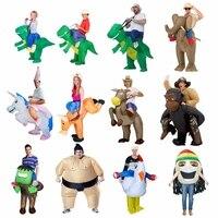Festa di Carnevale Costume Donne Dinosaur Cowboy Gonfiabile Costumi Divertente Party Dress Animale Cosply Costume di Halloween per I Bambini