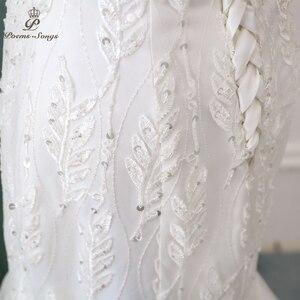 Image 5 - Nuovo bella paillettes pizzo abito da sposa 2020robe mariage Vestido de noiva Sirena abiti da sposa per la cerimonia nuziale robe de mariee