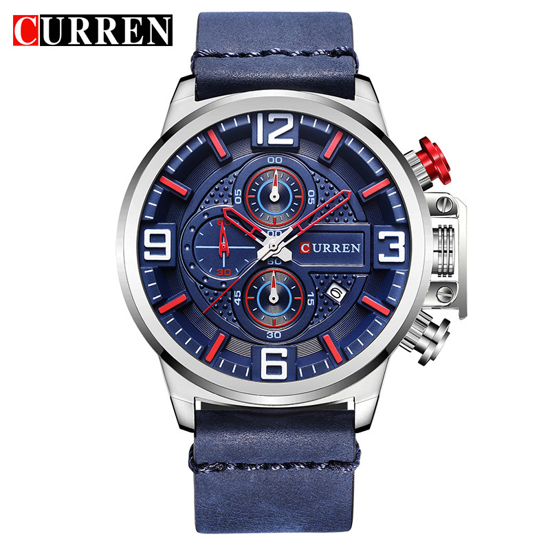 CURREN Brand Wristwatches Fashion Sports Men Watches Leather Strap Male Clock Chronograph Quartz-Watch Relogio Masculino new listing bellmers brand high grade watches leather strap men waterproof quartz watch relogio masculino sports wristwatches