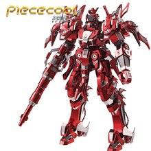 Piececool 3D металлические головоломки красный Гром издание модель комплекты P085-RSK DIY 3D лазерная резка собрать игрушки головоломки для аудита