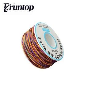 30AWG 0.25mm miedź cynowana owijanie drutu izolacji przewód testowy 8-kolorowe Wrap kołowrotek miedź cynowana z tworzywa sztucznego
