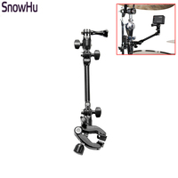 SnowHu For Gopro Accessories The Jam Music Clips 360 Rotate Adjustable Stand Mount For Gopro Hero
