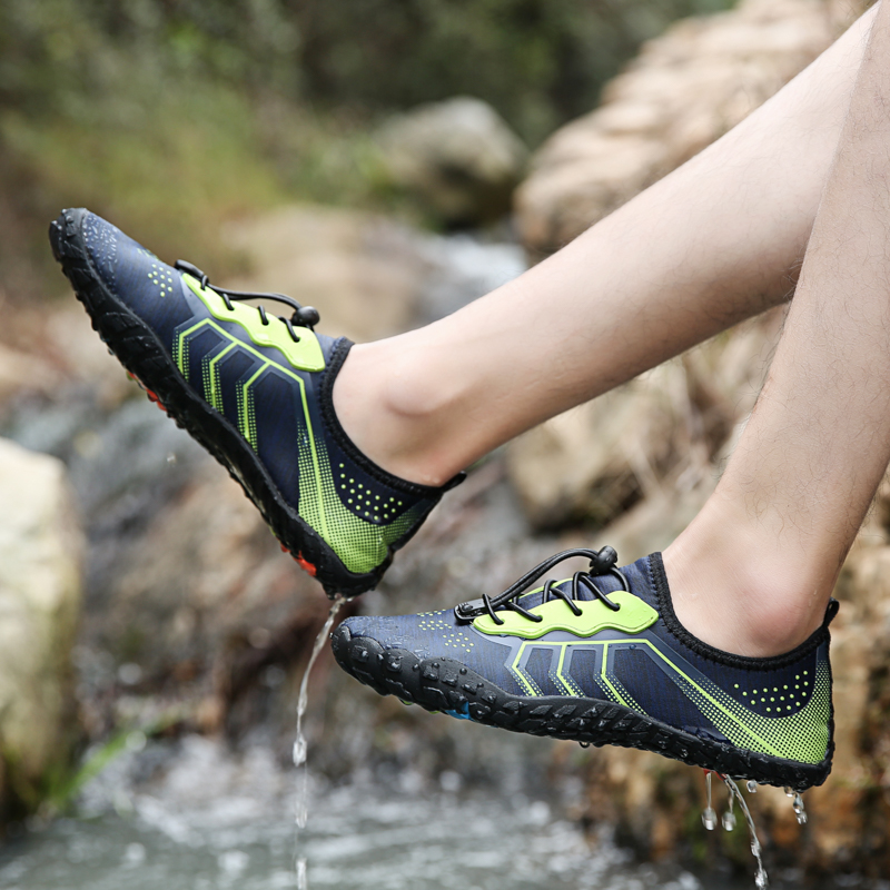 Men Women Beach Camping Shoes Breathable waterproof Seaside Beach Barefoot Sneakers Light Athletic Footwear Swimming Water Shoes in Women 39 s Flats from Shoes