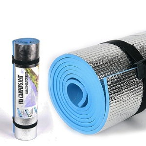 Image 1 - Outdoor camping mat air mattress picnic blanket picnic mat pads Aluminum Foil mat Camping Dampproof beach mat 180*50*0.6cm