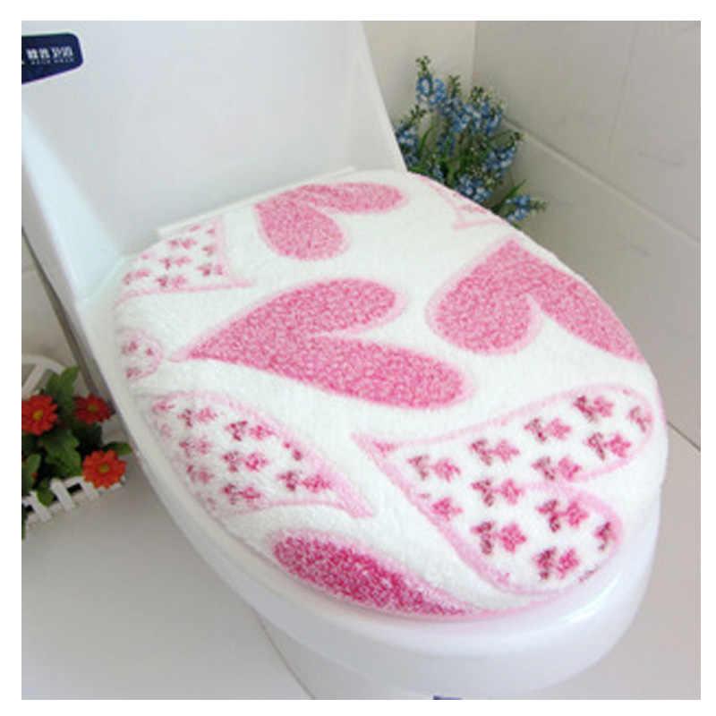 SRYSJS 2 قطعة/مجموعة القطن اللنت المرحاض غطاء مقعد و البساط الحمام مجموعة الزخرفية المرحاض غطاء مقعد s الأغطية الترقيات