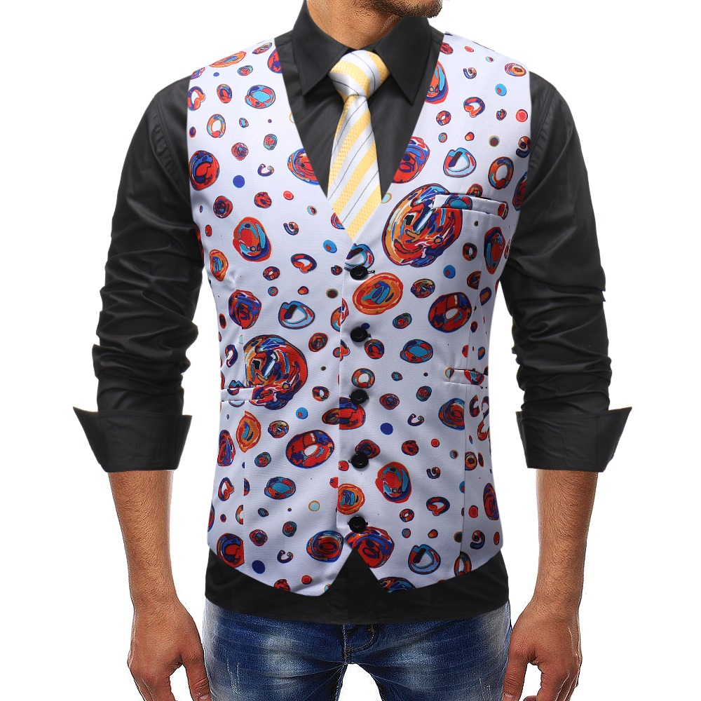 2018 New Arrival Fashion Men's Suit Vest Single-Breasted Wedding Groom Slim Fit Casual Waistcoat Part Dress Plus Size M-5XL