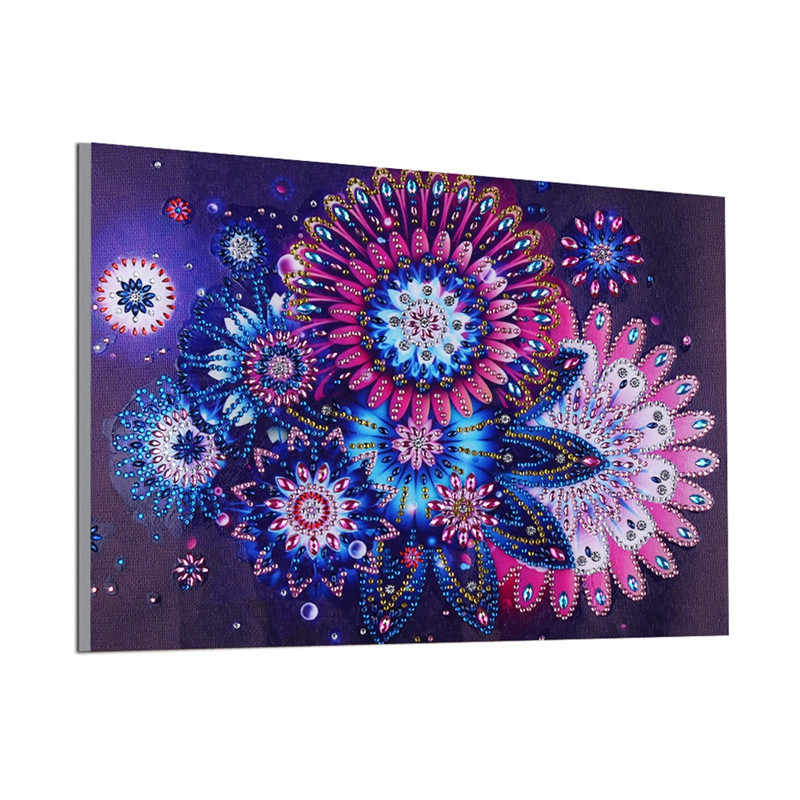 5d Flower Diamond Painting Special Shaped DIY Partial Drilled Floral Picture Diamond Embroidery Home Decor Handmade Art Crafts