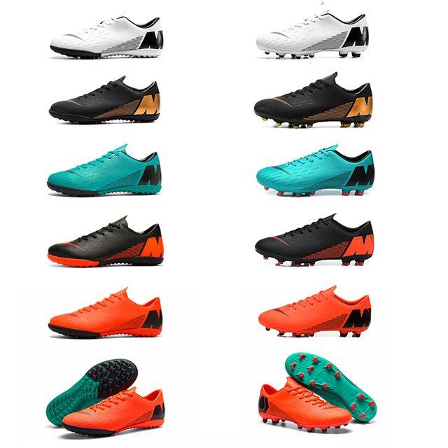 Indoor Soccer Shoes Men Futsal High Top Soccer Cleats Adults Magista TF Football Shoes for Boys Kids Football Boots Ankle 2018