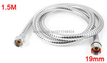 1.5Meter Silver Tone Spiral Shower Head Water Heater Pipe Hose Tubing 2pcs