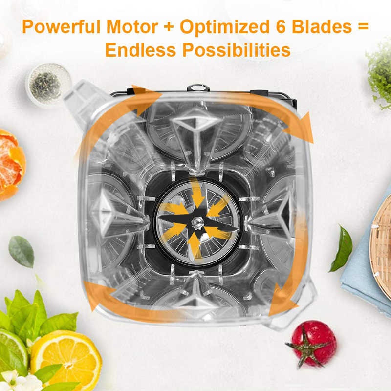 BPA LIVRE Digital Touchpad 3HP Preset Programa Automático 2200W Heavy Duty Poder Misturador Liquidificador Processador de Alimentos Juicer Smoothie de Frutas