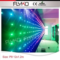 Led commercial advertising display screen free shipping p9 12x1.2m indoor stage led display for concert