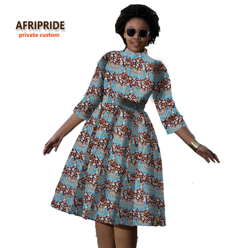 2018 robe africaine pour les femmes nouveau modèle tissus batik vêtements africains style de mode pour les jeunes ladys et les filles A722526