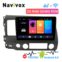 Navivox 2.5D IPS Touch Screen Android 9.0 2 Din Car DVD GPS Navigation For Honda Civic 2006 2011 Multimedia Radio 4G Civic GPS
