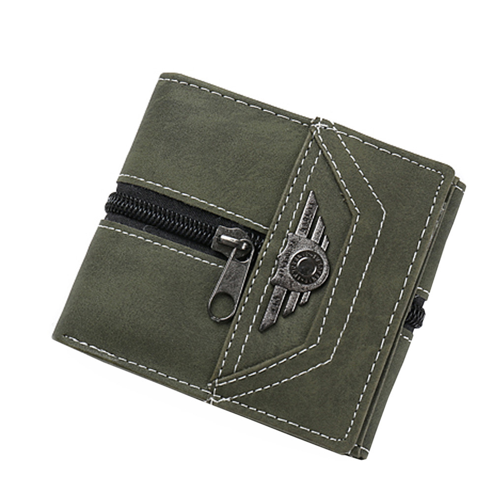 Back To Search Resultsluggage & Bags Search For Flights Mens Punk Retro Personality Coin Purse With Zipper Men Designer Small Purse Rfid Card Holder Mini Slim Leather Wallets H30501 Wallets
