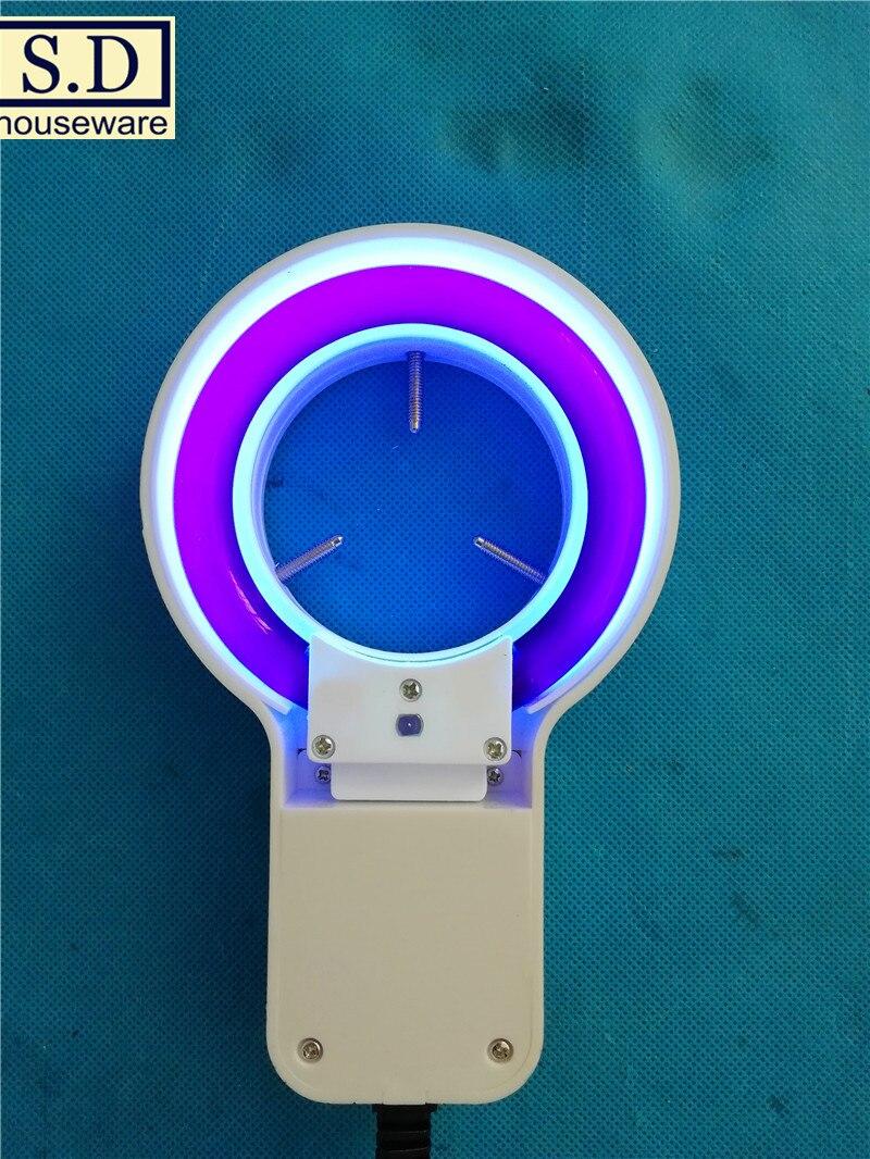 EntrüCkung Uv-60 Uv Ring Lichter Lila Leuchtstofflampe Licht Spezielle Beleuchtung Runde 60mm Fluoreszenz Erkennung Industrie Lichtquelle Reisen Professionelle Beleuchtung