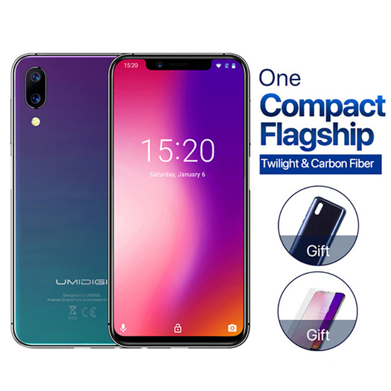 """Umidigi ONE 5.9"""" 4GB 32 ROM Mobile Phone Octa Core Android 8.1 12MP+5MP Wireless Charging Cell Phone NFC 4g Unlocked Smartphone"""