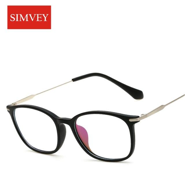 Simvey Mode Rétro Nerd Lunettes Femmes Vintage Marque Designer Coréen  Optique Lunettes Cadre Objectif Clair Montures 8282dbdccedd