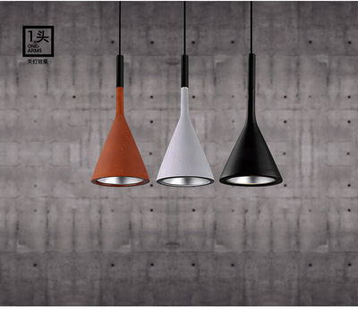 Creative personality simple modern lamps and lanterns American single head imitation cement pendant lamp a1 modern simple led crystal chandelier three head hanging lamps and lanterns lamps and lanterns artistic originality individual