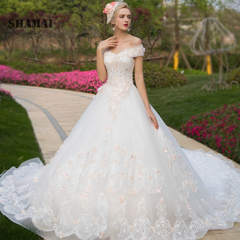 Aliexpress.com : Buy SHAMAI Luxury Wedding Gowns 2018 Robe